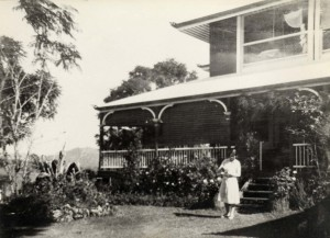 Kathleen Joyce at the front (note mosquito net through top window)