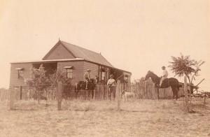 The original hut built by Edgar,Joyce